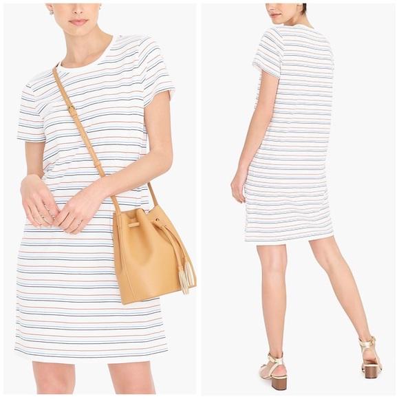 J. Crew Factory Dresses & Skirts - New! J. Crew Lilas Stripe Salt Ceris T-Shirt Dress